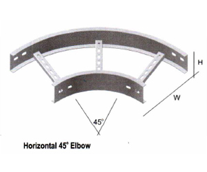 Horizontal 45o Elbow